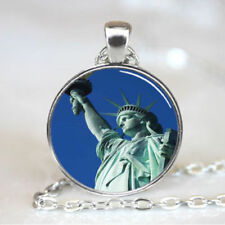 "Silver 20"" Necklace STATUE LIBERTY USA  Pendant men women mom key Free $10 GIFT"