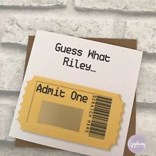 Personalised Scratch Card - Admit One - Concert, Artist Surprise Birthday Card