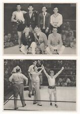 1932 OLYMPICS - EIGHT BOXING  PAPER PICTURE CARDS IN GERMAN.