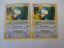Carte Pokemon Ronflex 100 pv Platine Rivaux Emergeants x 2 !!!