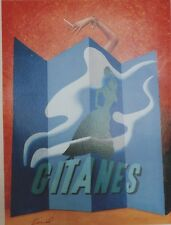 """""""GITANES"""" Affiche originale entoilée  Offset PINEL années 90  43x56cm"""
