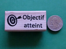 Objectif atteint - French Teacher's Wood Mounted Rubber Stamp