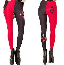 DC Comics Harley Quinn Polyester Spandex Yoga Pants/Leggings OSFM Adults