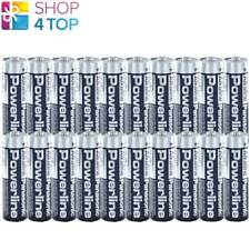 20 PANASONIC POWERLINE INDUSTRIAL AA R6 BATTERIES ALKALINE MN1500 AM3 E91 NEW