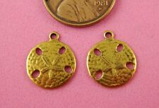 Small Antique Brass Sand Dollar Charms-2 Pc(s)