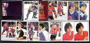 1981-82 OPC O PEE CHEE NHL HOCKEY STICKER ERROR VARIATION 1-135 SEE LIST