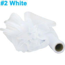Time to Sparkle 29cm x 26m Organza Fabric Roll - White