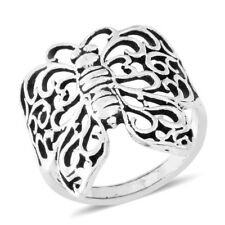 BUTTERFLY FILIGREE RING STERLING SILVER RING SIZE 8.5  WINGS OPENWORK LATTICE