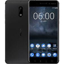 New Nokia 6 (HK Version) Unlocked 64GB Dual SIM Black Android 7.0, RAM 4GB