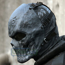 Cosplay Awesome Full Face Masks Hunting Costume Actical Military Black God Prop