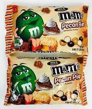 2X Bags M&M Pecan Pie Flavor Milk Chocolate  Candies X-6/2017, 9.9oz Limited