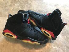 Nike Air Jordan 6 VI Retro GS Black Infrared Varsity Red Size 6Y (384665-061)
