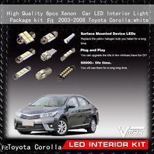 6pcs Xenon White Car LED Interior Light Package kit Fit 2003-2008 Toyota Corolla