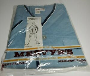 VINTAGE Deadstock Mervyns Pajama Set Short Sleeve, Knee Length Blue RARE NEW