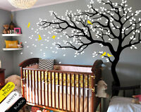 Tree wall decal huge tree wall decal set nursery wall decor wall mural KR047
