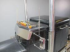 CB Spring Mirror Mount Metal Antenna Set Tamiya RC 1/14 Semi Truck Globe Liner