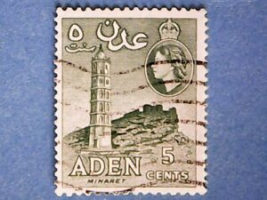 Aden. QE2. 1956. 5c Bluish Green. SG49a. Wmk Mult Script CA. P12 x 13½. Used.