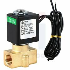 14 Electric Solenoid Valve Brass 12v Dc Nc Control Water Air Gas Diesel