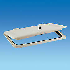 CARAVAN / MOTORHOME - NBBS BATTERY BOX / LOCKER DOOR 575 - WHITE - PO560