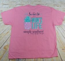 "NWOT Simply Southern ""Mom's Life"" Women's Sz. 2XL Short Sleeve T-Shirt"