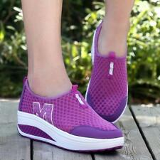 Shape Ups Walking Fitness Toning Shoes Platform Wedge Sneakers Creeper Shoes @wf