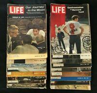 Life Mags 1969, Lot of 18,  Jan/Feb/Mar/Apr/May/Jun/Aug/Oct/Nov/Dec, Gd-Acpt
