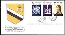 Brunei 215-17 FDC, 25 Jahre Regentschaft Elisabeth