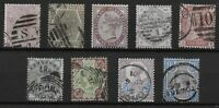 Small Group Of QV Surface Printed Stamps. Fine Used. 1d.Lilac UM.   Ref:07165