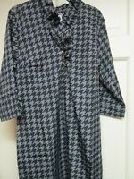 Gray/Black Print Ruffle Dress by Mud Pie, Size Small (4-6), NWT
