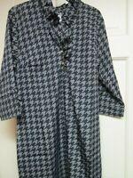 Gray/Black Print Ruffle Dress by Mud Pie, Size Small (4-6), NWT