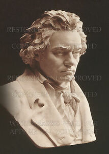 11x14 photo of 1812 sculpture from life: Ludwig van Beethoven, music composer
