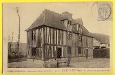 cpa 1900 PETIT COURONNE (Seine Maritime) MAISON à Colombages de Pierre CORNEILLE