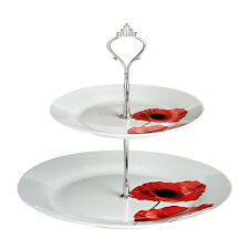 FLOWER design Poppy Torta Supporto Rack 2 PIANI PORCELLANA display al servizio torta