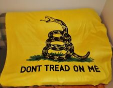 50 X 60 INCH GADSDEN FLAG BLANKET - DON'T TREAD ON ME - SOFT WARM FLEECE THROW
