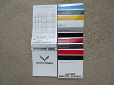 2014 CORVETTE STINGRAY Z51 COLOR CHIP CHART FACTORY BROCHURE NEW AND VERY COOL