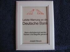 """JOSEPH BEUYS:/""""Hirschgalvanismus/"""" Originalgrafik hochwertige Kunstpostkarte"""