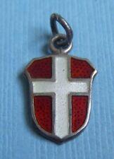 Vintage enamel Meka Denmark flag sterling charm