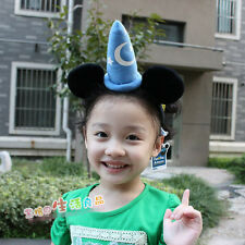 Disney Mickey Mouse Fantasia Sorcerer Wizard Ears Headband Party Cosplay Gift
