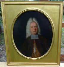 Portrait de Gentilhomme d'Epoque Louis XIV Huile sur Tôle fin XVIIème siècle
