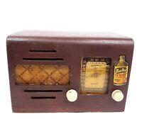 Vintage Tube Radio Meissner Wooden Tabletop Radio Retro Home Decor For Repair