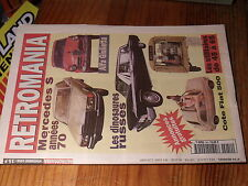 9µ? Revue Retromania n°54 Utilitaires de 1945 à 1965 Fiat 500 Mercedes S