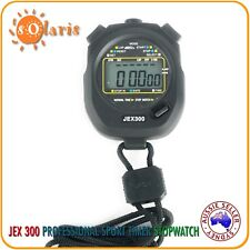 Jex300 Stopwatch Basic 1/100 Sec. Chronograph for All Sports Timer