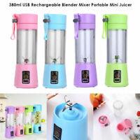 380ml Mini USB Rechargeable Electric Juicer Smoothie Bottle Fruit Blender   Ca