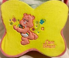 "CARE BEARS ""Cheer Bear"" Plush Yellow Fabric Easter Basket 2006"