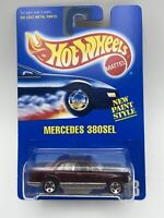 Hot Wheels Blue Card New Paint Style Mercedes 380SEL Maroon 1/64 FREE SHIPPING