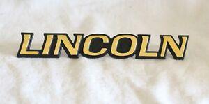"1993-1996 ""LINCOLN"" MARK VIII 24K GOLD PLATED REAR / GRILL EMBLEM- F3LB6342550AA"