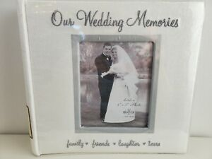 "New Wedding Memories Photo Album 4""X6"" 200 Pocket Slip Memo"
