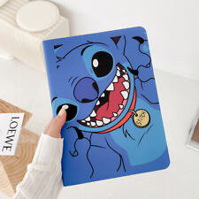 Flip Disney Stitch Smart Leather Stand Case Cover Defender For Apple iPad Series