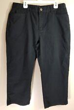 Lauren Ralph Lauren Womens Classic Midcalf Capris Cropped Pants Black Size 8