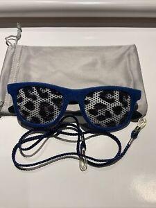 SONNENBRILLE FUN Brille  Samt Ausstellungsstück Mit Säckchen U Brillenband
